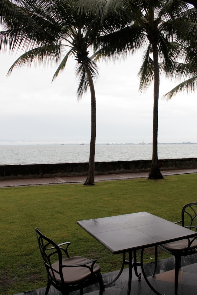 Timeless view of the Malacca Straits from the Eastern & Oriental Hotel.