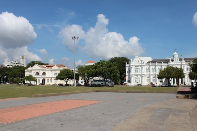 The Padang, with a view of City Hall and Town Hall.