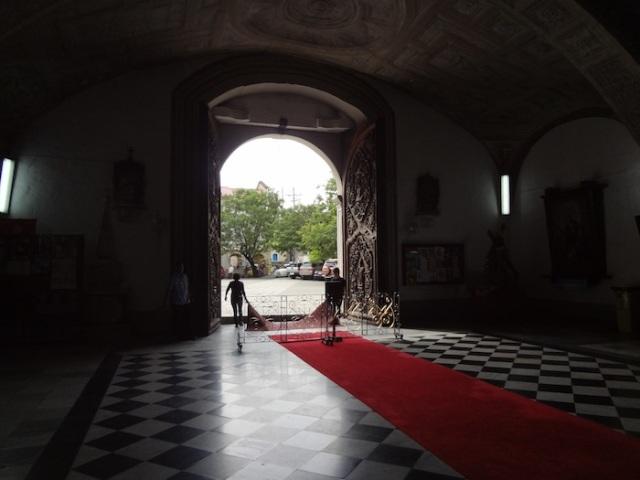 Inside looking out, San Agustin Church.