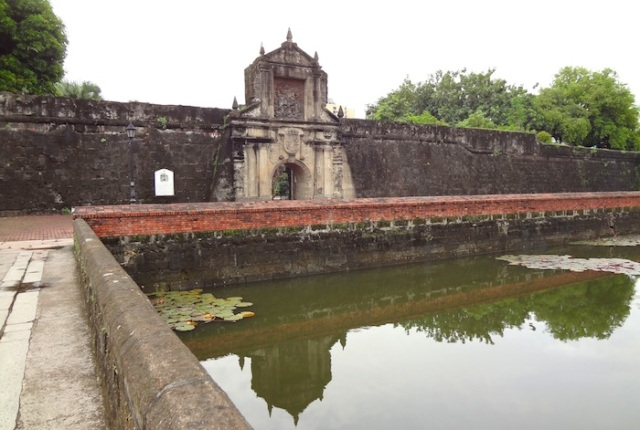 Fort Santiago – the heavily fortified entrance to Intramuros.