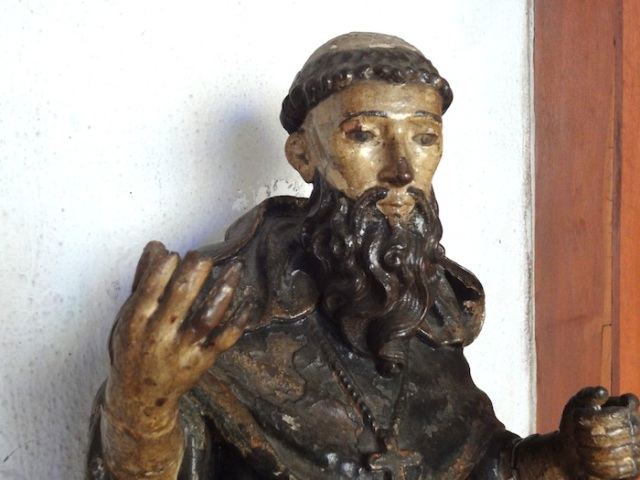 Religious statuary in the Church's museum.