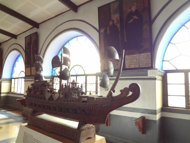 A miniature Spanish galleon.