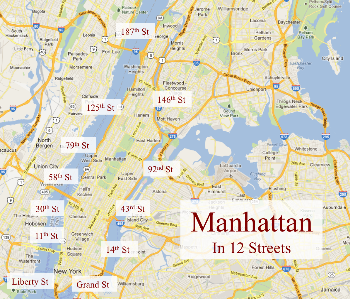 Manhattan Streets: Manhattan In 12 Streets