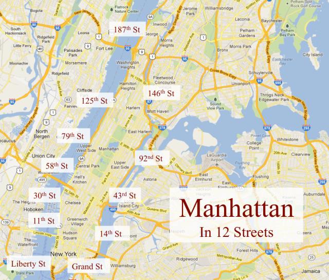 Streets In Manhattan: Manhattan In 12 Streets