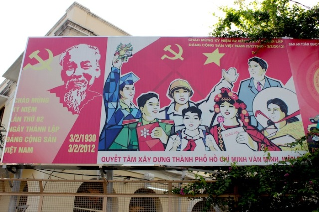 My one concession to Ho Chi Minh City.  This appears to be some kind of commemoratory message for the  82nd anniversary of (North) Vietnam.