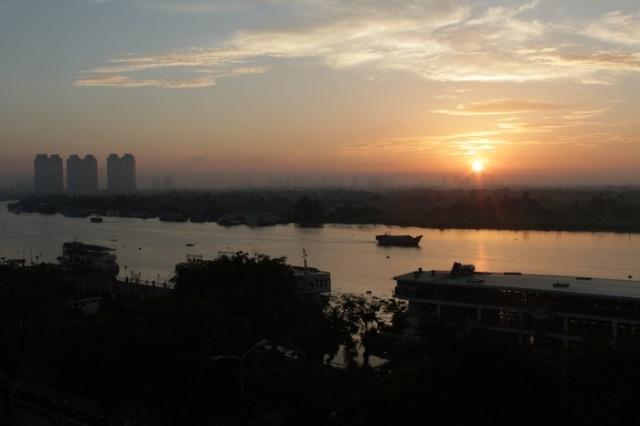 Dawn over the Saigon River.