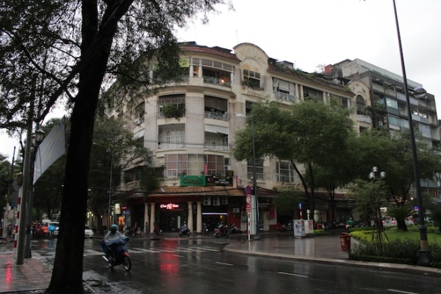 Another French colonial era apartment block.  The building to the right apparently features in the iconic photograph of the Fall of Saigon, with a helicopter at the top of the building, and hundreds of people clamouring to get on.