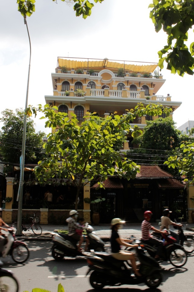 Quan An Ngon, the best and most popular Vietnamese restaurant in Saigon, housed in a colonial villa.