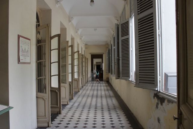 The tranquil corridors of the City Museum, once the Governor of Cochinchina's Palace.  It was built in 1885 in a neo-classical style.