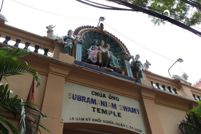 The Subramaniam Swamy Temple, one of three hindu temples in the city, built to cater to the religious needs of Tamils from Pondicherry (French India) and later on, chettiars.