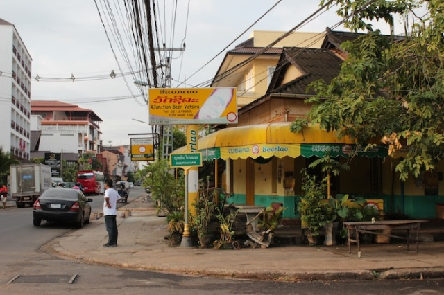 A colonial-era bungalow, now used as a bar, Thanon Pang Kham.