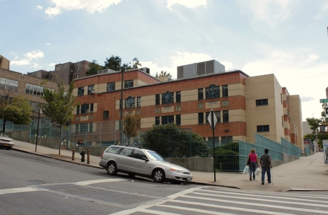 Fig. 11 – Schoolyard at the foot of the hill on Broadway.