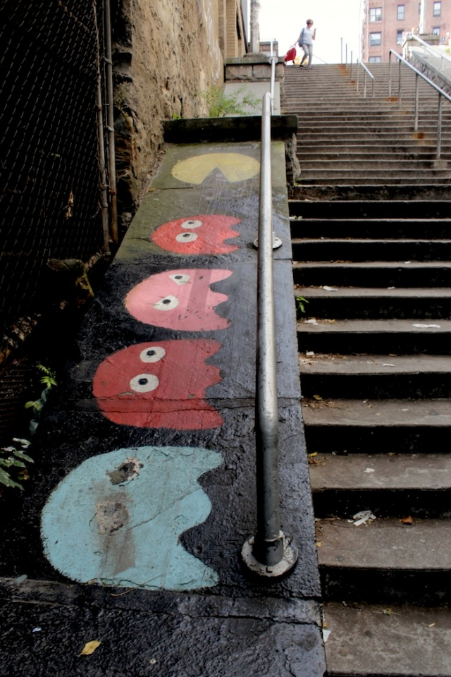 Fig. 15 – Pacman along the stairs up towards Riverside.