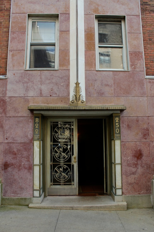 Fig. 20 – Art Deco lobby to waterfront apartment complex.