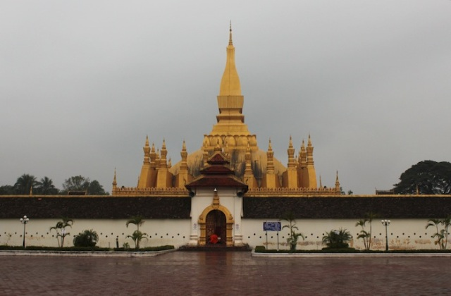 That Luang, the Golden Stupa, symbol of Laos.