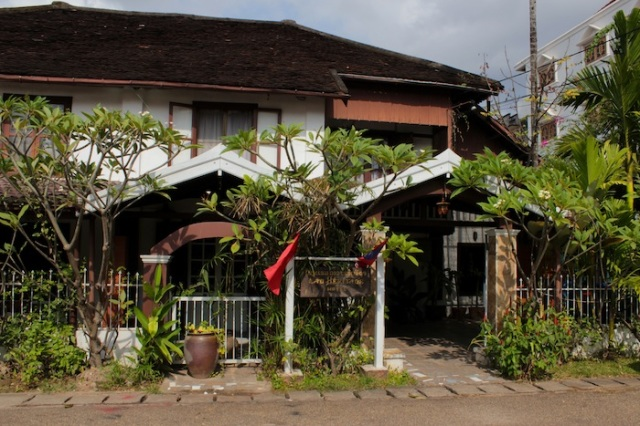 Lao Heritage Hotel, like a bungalow in Singapore.  Thanon Phanompenh.