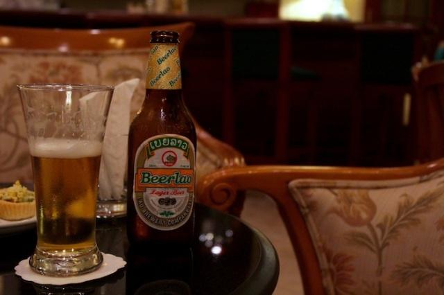 Beer Lao, at the Colonial Bar.