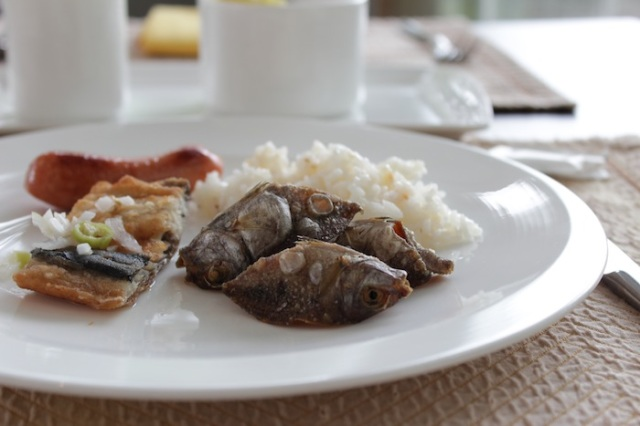 Filipino Breakfast: a simultaneously rich and subtle mix of flavours.