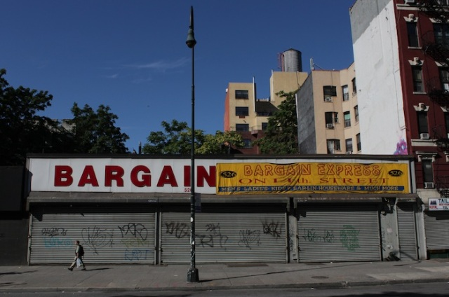 4 – Between Avenues B and A: Bargain Express.