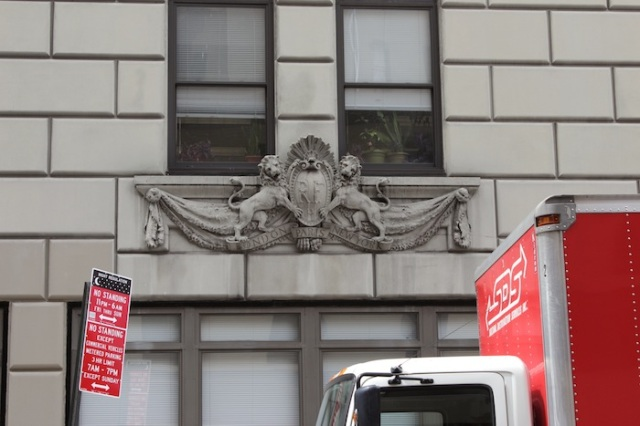 11 – No. 260: New York City Human Resources Building, adorned with a pair of Royal Lions.