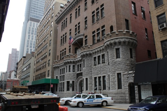 19 - Nos. 134 – 138: A latter-day crusader castle housing the Headquarters of NYPD's Traffic Control Division.