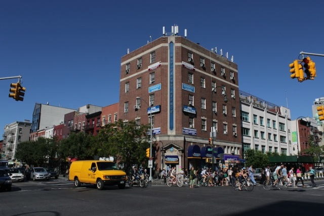 13 – You know you have left Alphabet City when you reach the Junction of 1st Avenue, thronged with people, cyclists and cars.