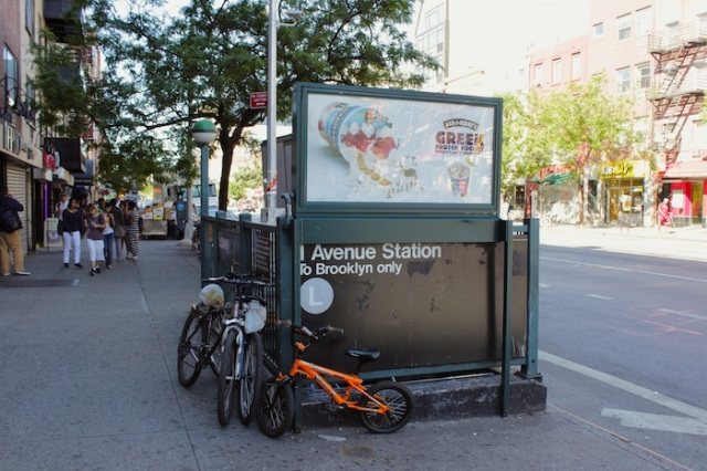 14 – The 1st Ave Subway Station, the Western-most station on 14th Street, contributes to the throng of commuters here.