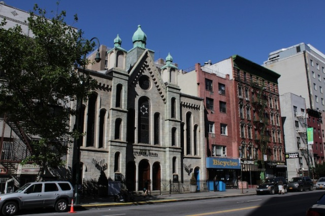15 – Tifereth Israel Town and Village Conservative Synagogue. It was built to cater to Stuyvesant Town and the adjoining Peter Cooper Village. Built in 1866 as a church, it finally became a synagogue in 1962.