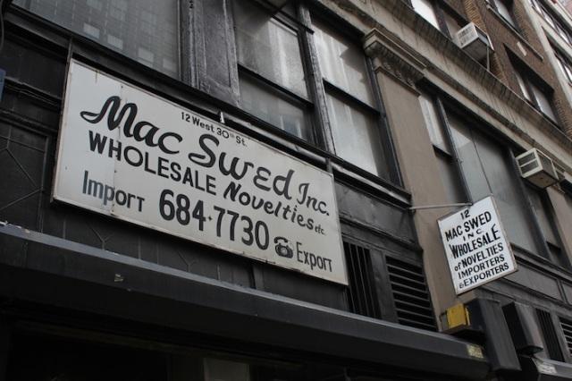 27 – No. 30 E 30th St: Mac Swed Inc. Wholesale Novelties.