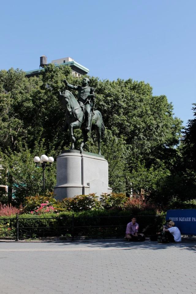 28 – Statue of George Washington (1856) by Henry Kirke Brown.