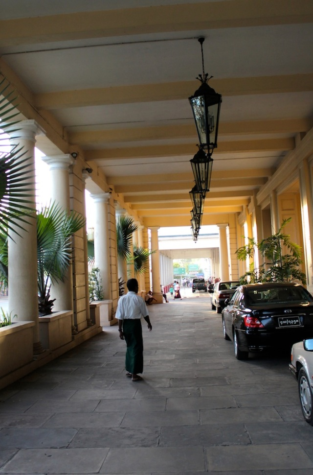 The iconic driveway to The Strand Hotel.