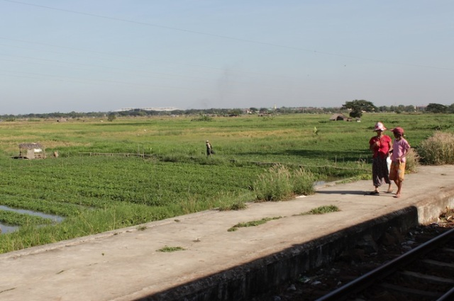 Business as usual in the rural outskirts of Yangon (view from the Yangon Circular Train).