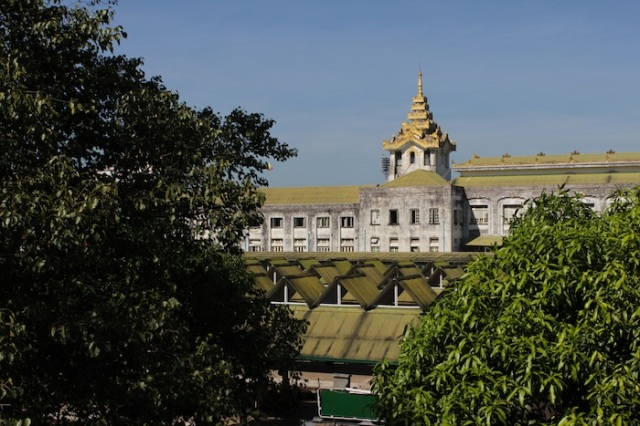 Yangon Central Railway Station.