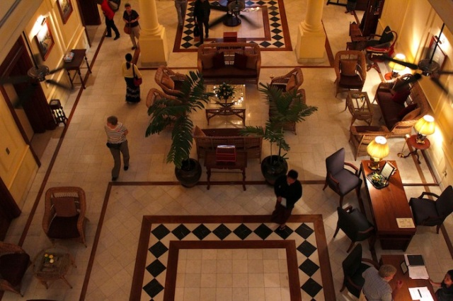 Fig. 10 – The hotel lobby, in the afternoon.