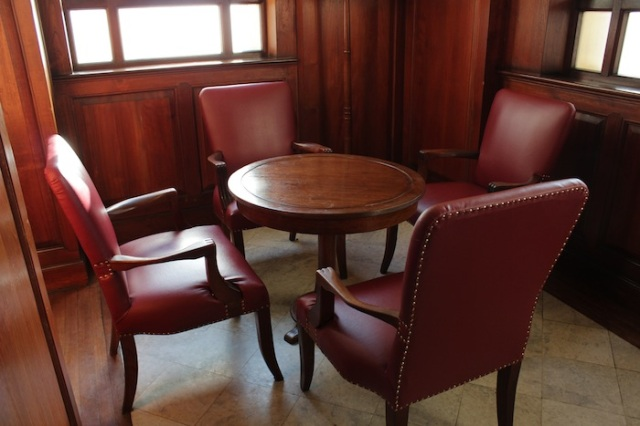 Corner table at the Strand Bar where the likes of Noel Coward and Somerset Maugham may have sat at.
