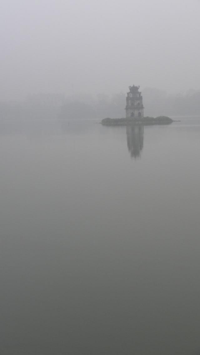 The Turtle Temple, on Hoan Kiem Lake (2010).