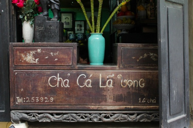 Cha Ca La Vong: the famous Grilled Fish Restaurant that is an institution in its own right.
