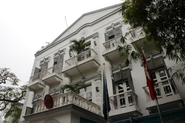 Colonial-era villas now functioning as foreign embassies.