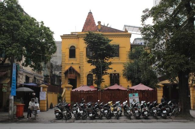 Colonial-era villa functioning as a bar.