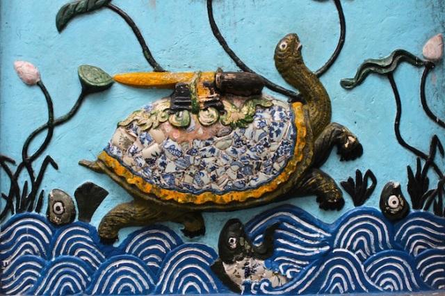 The Hoan Kiem turtle, at Ngoc Son (玉山 - Jade Mountain) Temple.