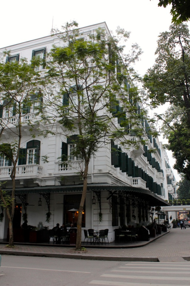 Classic view of the Sofitel Legend Metropole Hotel.