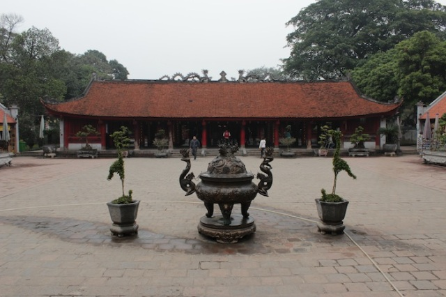 The Interior Courtyard of the Temple of Literature.