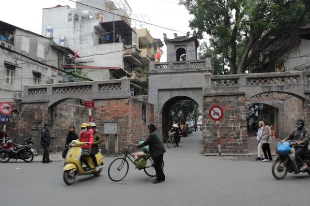 Hanoi's old City Gates, recently refurbished so it looks fakely spotless.