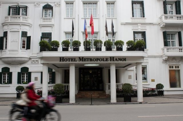 Entrance to the Historic Wing of the Hotel Metropole.