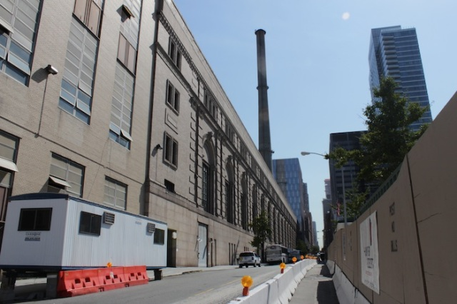 1 – Our hero tears down the street along the ConEd building towards the smokestack…