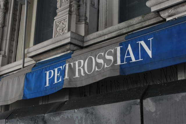 17 – Across from her is the Petrossian restaurant, famed for their caviar, and occupying the ground floor of Alwyn Court, what was once the most luxurious apartments in its time. It was built in 1909.