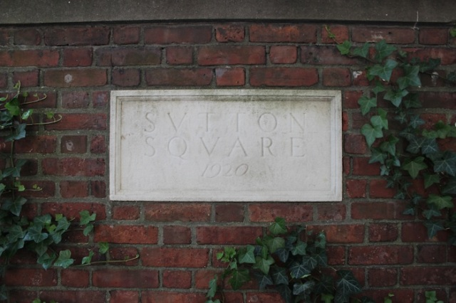 43 – An old marble plaque reveals this place to be Sutton Square.
