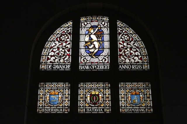 Stained glass windows from a bygone era