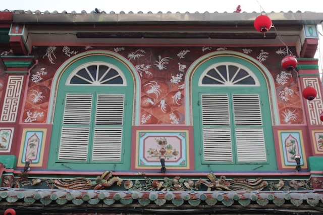 Façade of Peranakan Mansion.