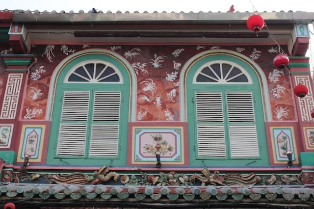 Façade of Peranakan Mansion.